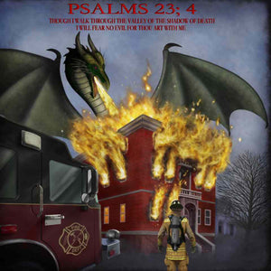 POSTER, FIREFIGHTER PSALMS, 24X24