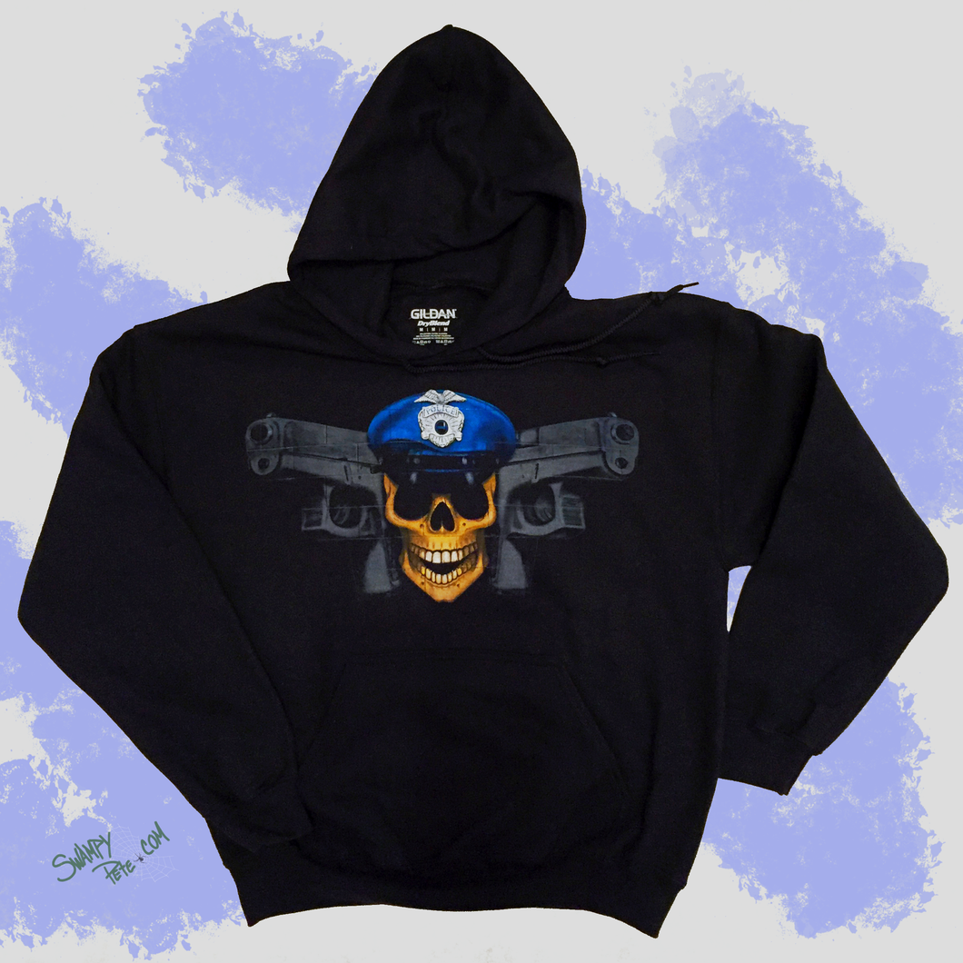 HOODIES, (Cotton Blend) WITH POLICE JOLLY ROGER DESIGN
