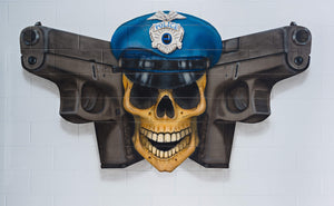 POSTER, POLICE JOLLY ROGER, 30X20