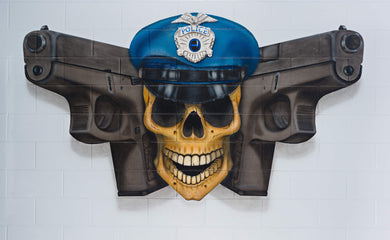 POSTER, POLICE JOLLY ROGER, 36X24