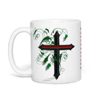 11 oz, FIREMAN CROSS W/ PRAYER