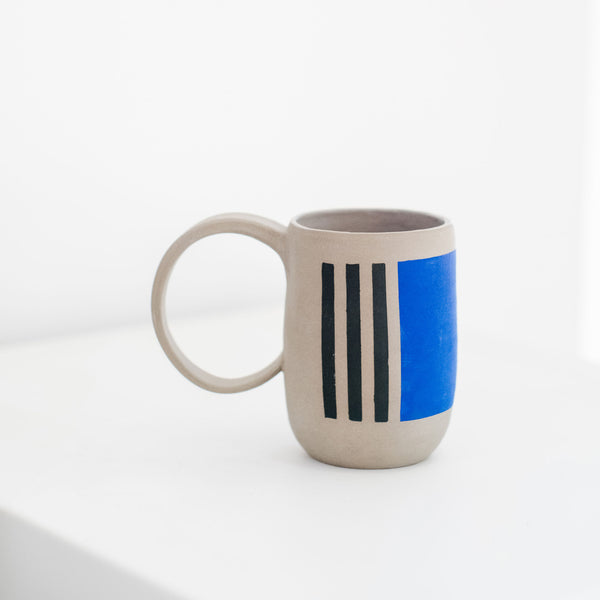 Blue & Green Geometric Mug
