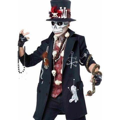 Voodoo Skull Dude Dead Top Hat Halloween Set California Anime Costumes