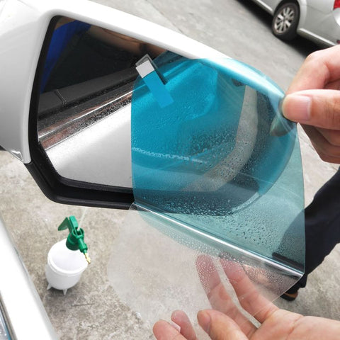 1 Pair Car Anti Water Mist Film Anti Fog Coating Rainproof Hydrophobic Rearview Mirror Protective Film