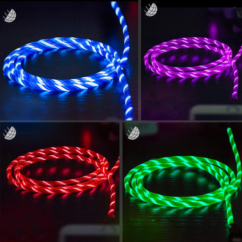 LED Light Fast Charging Data Cable Charger USB Cable For XiaoMi Huawei Letv Smart phone