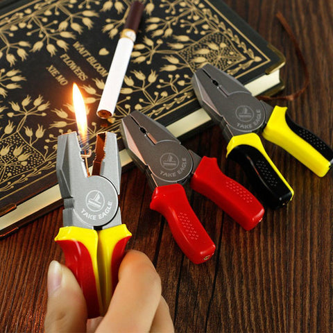 Pincer Pliers Windproof Gas Lighter