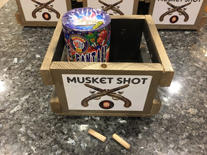 Musket Shot with Candle/Rocket/Mortar Topper