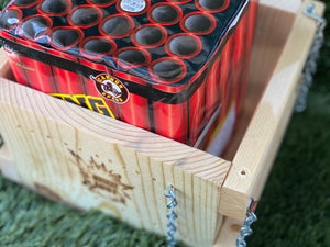 "Limited Edition ""CodyBRack"" Musket Shot/Mortar topper with Cody B Pyrotechnics 6 Pack of Plugged HDPE Mortar Tubes"