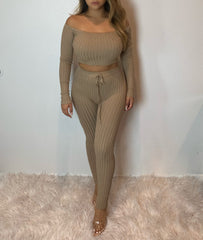 Miraya Knit Set (taupe)