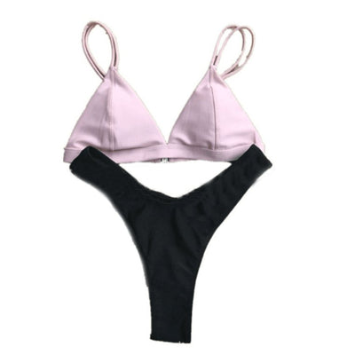 Sports & Outdoors / Swimming / Bikini Sets - FLEUR - BRALETTE CHEEKY BOTTOM BIKINI