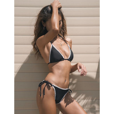 Sports & Outdoors / Swimming / Bikini Sets - JONQUIL - TRIANGLE BIKINI WITH TIE HIGH WAIST