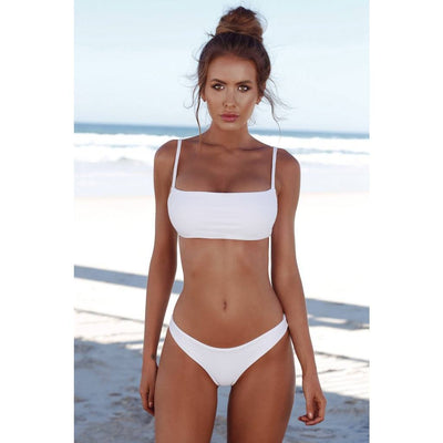 Sports & Outdoors / Swimming / Bikini Sets - LEILANI - BANDEAU BIKINI WITH CHEEKY HIGH WAIST