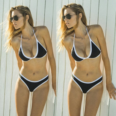 Sports & Outdoors / Swimming / Bikini Sets - LIANA - TRIANGLE CHEEKY HIGH WAIST BIKINI