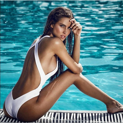 Sports & Outdoors / Swimming / One-Piece Suits - SIRELI - HIGH NECK HIGH WAIST ONE PIECE