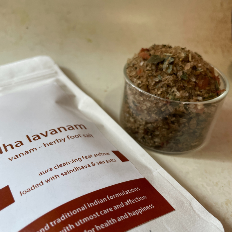 paadha lavanam - vanam - forest foot soak  salt - 100 gms