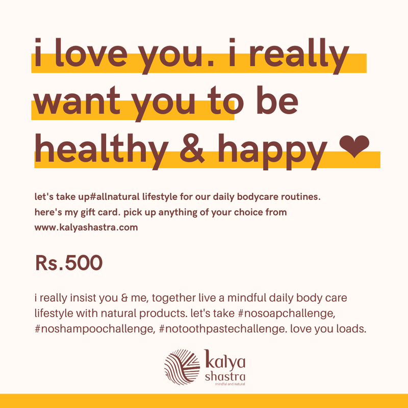 Gift Card for a mindful natural lifestyle