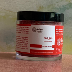 raagin - nutritious and fun - face packs - beetroot loaded - 50 gms