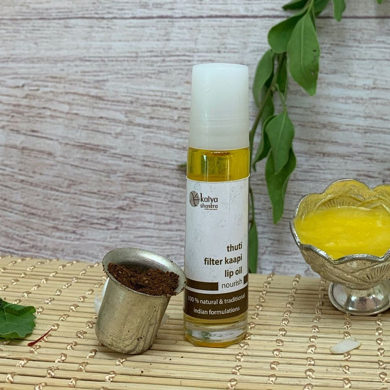 thuti filter kaapi - lip oil to treat dry chapped lips