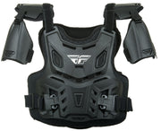 FLY RACING  CE REVEL ROOST GUARD BLACK YOUTH