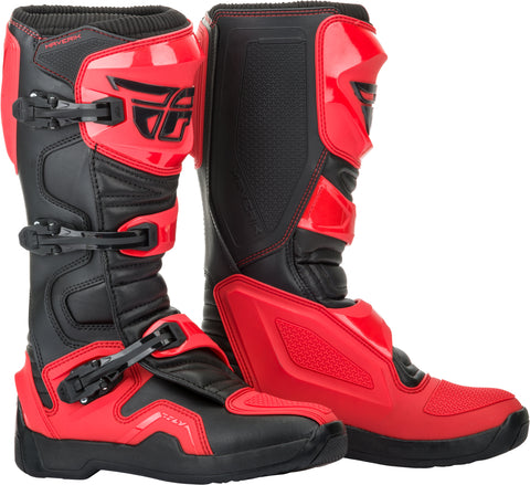 FLY RACING  MAVERIK BOOTS RED/BLACK