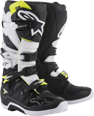 TECH 7 BOOTS BLACK/WHITE - G-FORCE POWERSPORTS