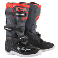 YOUTH TECH 7S BOOTS GREY/RED - G-FORCE POWERSPORTS