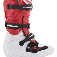 YOUTH TECH 7S BOOTS WHITE/RED/GREY - G-FORCE POWERSPORTS