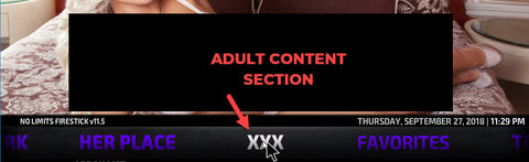 firestick with adult section