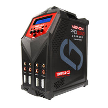 Load image into Gallery viewer, Venom Pro Quad 100W 7A 4-Port AC/DC LiPo, LiHV & NiMH Battery Balance Charger