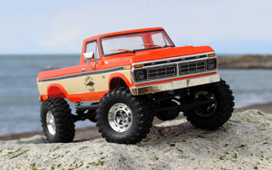 Carisma SCA-1E 1/10 '76 Ford F-150 4WD Scale Crawler RTR, (324mm Wheelbase) Orange with a free carisma car kit.