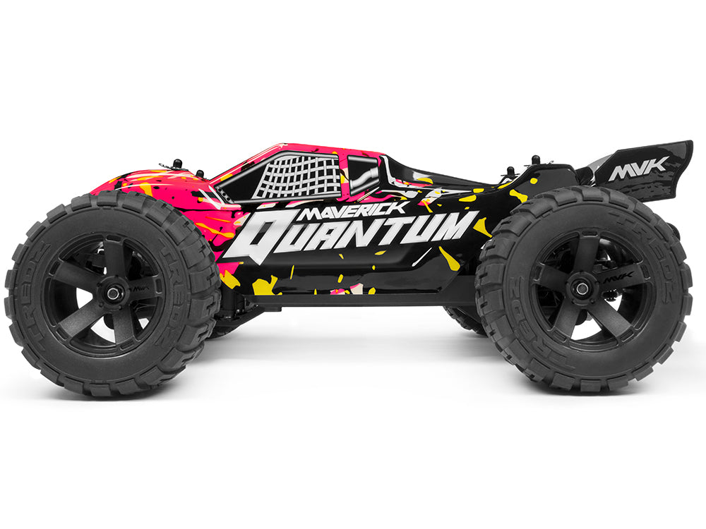 Maverick Quantum XT 1/10 4WD Stadium Truck, Ready To Run w/Battery & Charger - Pink