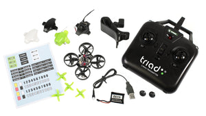 Triad FPV 3-in-1 Pocket Drone with Universal 5.8GHz FPV Goggles combo
