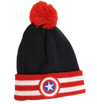 Bonnet Captain America Marvel - Captain America Pompon bonnet marvel shoping
