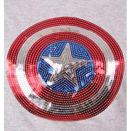 Pull Over Captain America Marvel Femme - Shield Sequin pul-over marvel shoping