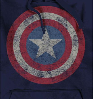 Sweat-shirt Captain America Marvel - Logo Grunge Vintage sweat-shirt marvel shoping