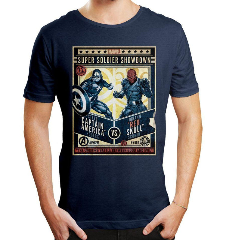 T-shirt Captain America Marvel - Super Soldier tee-shirt marvel shoping