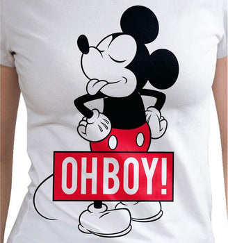 T-shirt Femme Disney - Mickey Oh Boy tee-shirt marvel shoping