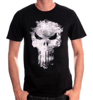 T-shirt The Punisher Marvel - Punisher Distress Skull tee-shirt marvel shoping