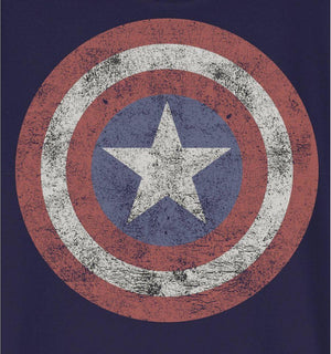 Tshirt Enfant Marvel - Captain America Logo Grunge tee-shirt marvel shoping