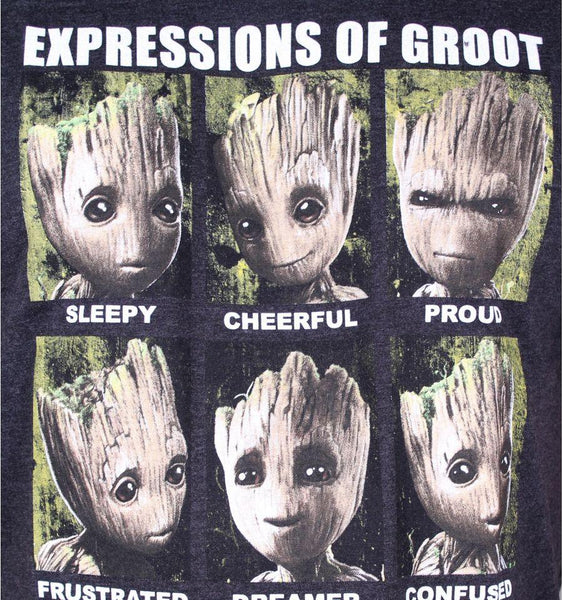 Tshirt Gardiens de la Galaxie 2 Marvel - Expressions of Groot tee-shirt marvel shoping