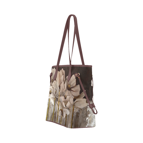 Brown Beauty Tote Bag (Brown Trim) (Model 1661)