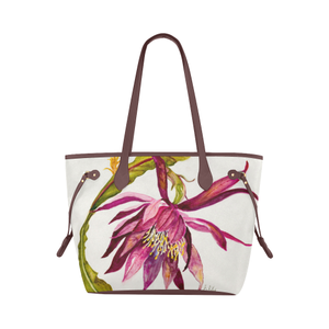 Cactus Play Tote Bag (Brown Trim) (Model 1661)