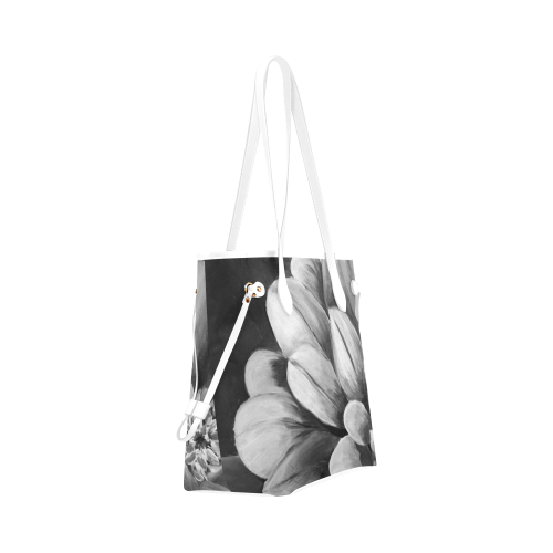 Black and White Tote Bag (White Trim) Model 1661