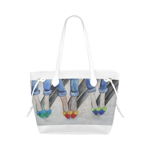 Summer Fun Tote Bag (White Trim) (Model 1661)