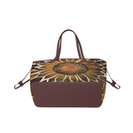 Sunflower Center (Brown Trim) Canvas Tote Bag (Model 1661)