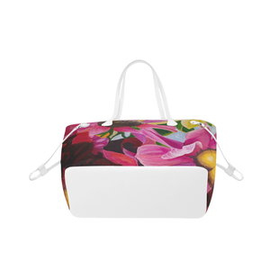 Petal Power Tote Bag (White Trim)  (Model 1661)
