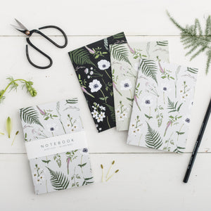 'Wild Meadow' Collection - A6 Set of 3 Notebooks