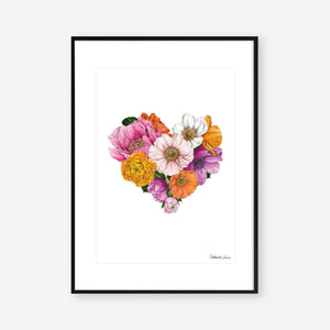 Botanical Heart - Art Print