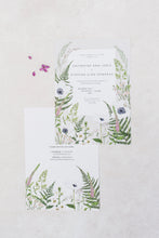 Load image into Gallery viewer, Wild Meadow - Semi-custom Botanical Wedding Invitation Suite