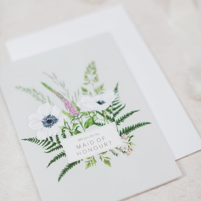 Wild Meadow 'Maid of Honour' Card